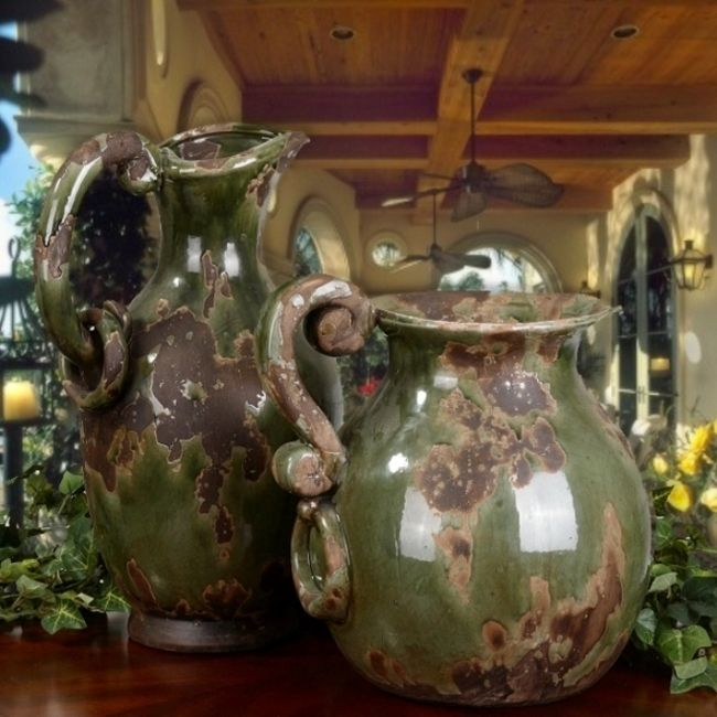 Old World Pitchers, great for that Tuscan Country Decor.  Add paintings and other accents to complete the look.  Check out my Vineyard  and Equestrian Country Side boards