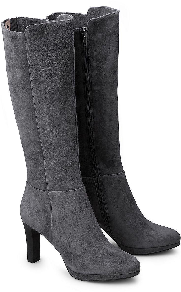 ItalDesign High Heel Stiefel Damenschuhe High Heel Stiefel Pump Moderne Reißverschluss Stiefel  Weinrot