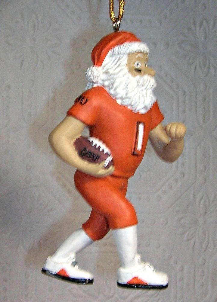 Mcdonalds Christmas Ornament.Osu Football Santa Christmas Ornament Mcdonalds Oklahoma State