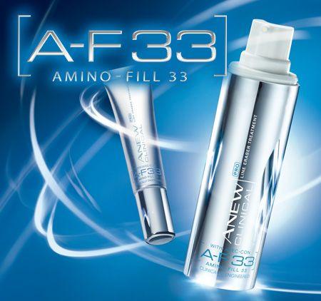 AVON ANEW PRO A-F33. Intensivpflege & Augenpflege gegen Linien. AVON präsentiert die Revolution der  Anti-Falten-Pflege! Das in den USA patentierte  A-F33 mildert Fältchen und hilft, die Haut zu straffen & zu pflegen.