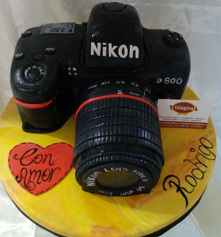 www.tortasimagina.cl torta cumpleaños cámara fotográfica,