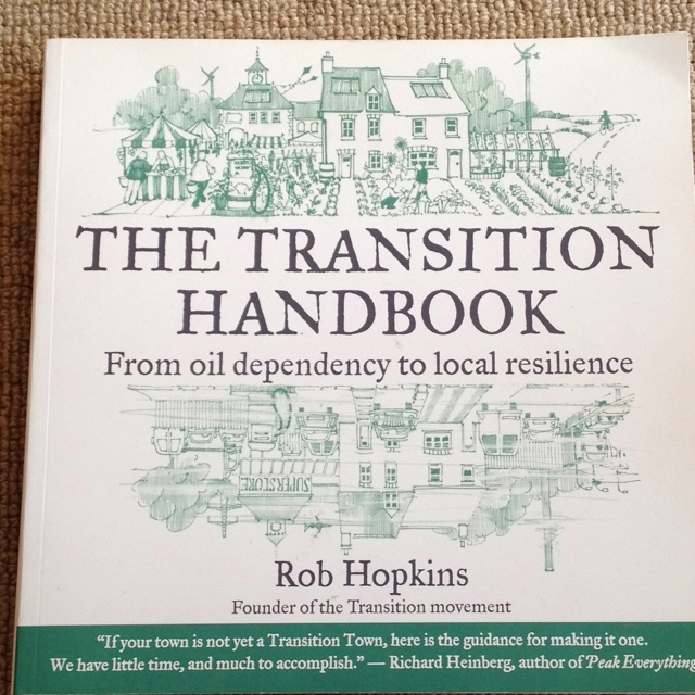 http://transitionculture.org/shop/the-transition-handbook/  Informative overview of peak oil, which quickly makes you ask some hard questions about how we operate and how we could change.Transitional Handbook, Reading, Transitional Guide, Book Worth, Local Resilience, Oil Dependent, Transitional Town, Resilience Transitional, Rob Hopkins
