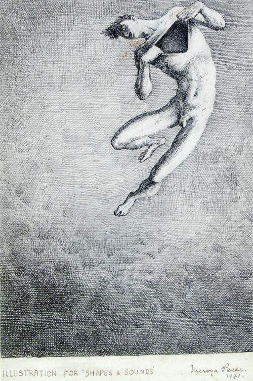 Mervyn Peake. Proposed illustration for Shapes & Sounds 1941.