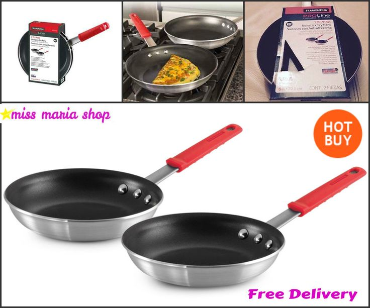2 Non-Stick Frying Pans Commercial Restaurant Gas Ceramic Electric Cooktops 8