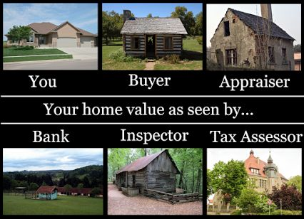 """The actual """"home value"""" as seen by the buyer, seller"""