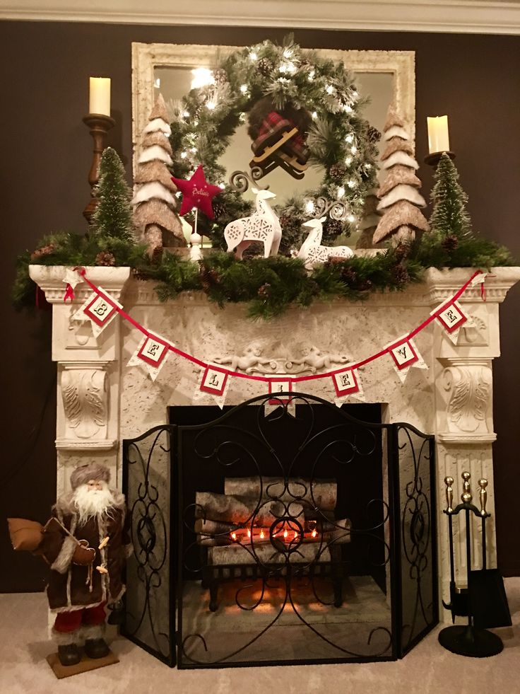 25 Unique Christmas Fireplace Garland Ideas On Pinterest Garland Mantle Christmas Fireplace