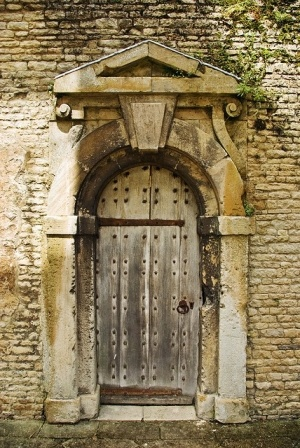 An ancient oak door in an Elizabethan mansion ~ Love Doors, so many things to imagine behind them