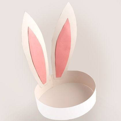 Cute & Easy! Paper bunny ears for Easter.