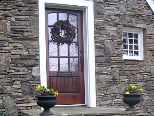 Stone Cladding Exterior Houses Front Porches