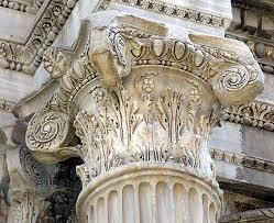 -Hoofdje van een zuil of pilaster