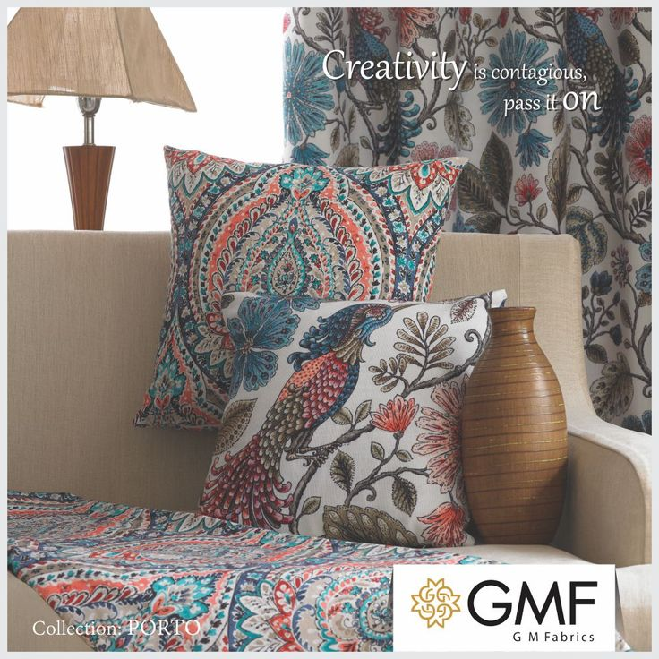 Deck up your #Home with creative fabric designs & make it look #Marvellous #OnlyWithGMF!! Explore more on www.gmfabrics.com #HomeInteriors #Interiors #HomeDecor #Furnishings #GMF