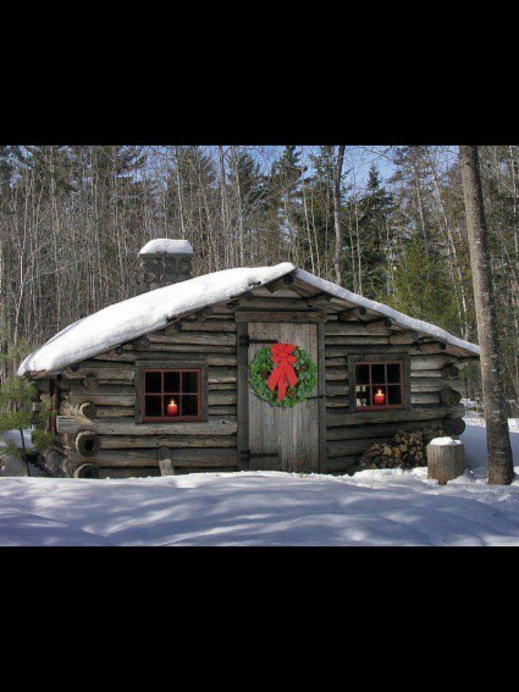 Christmas Cabin Christmas Pinterest Cabin Log