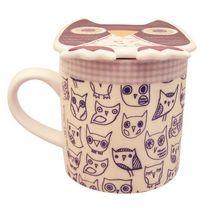 Vau, tästä minä haluan juoda aamukahvini! Keraaminen pöllökuppi kannella. Suoraan englannista!