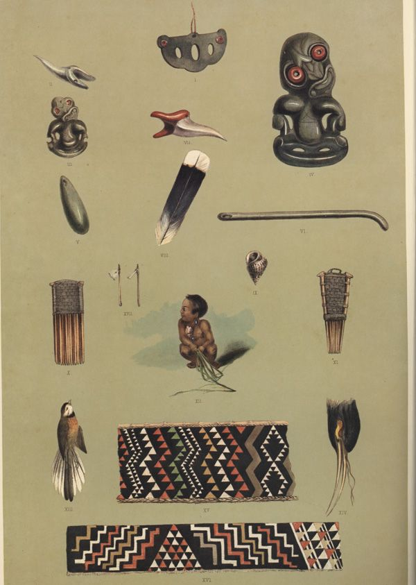 Various Maori objects