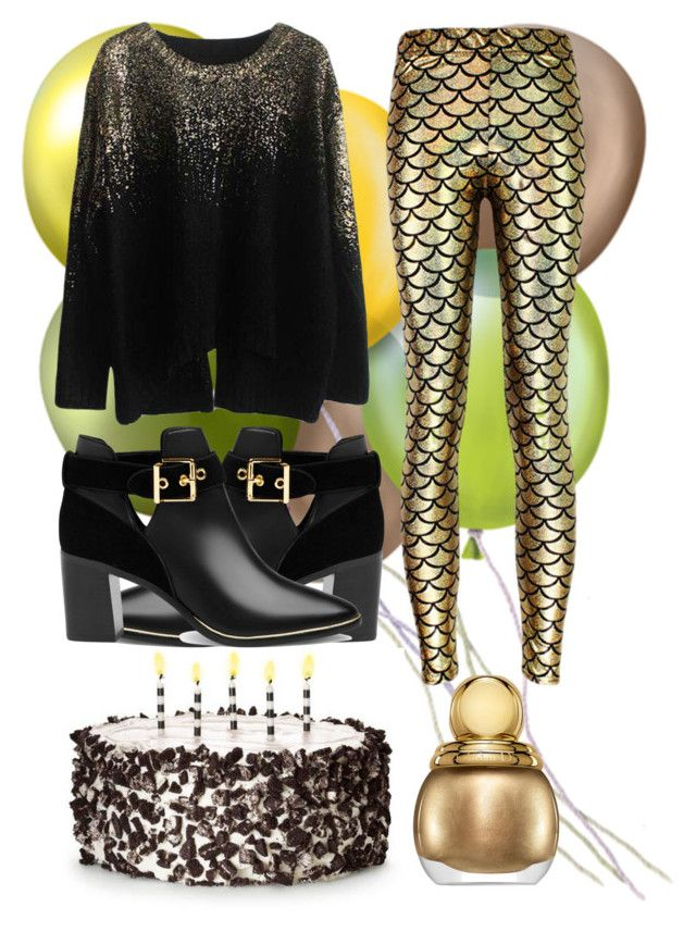 birthday party by slytheriner on Polyvore featuring Ted Baker