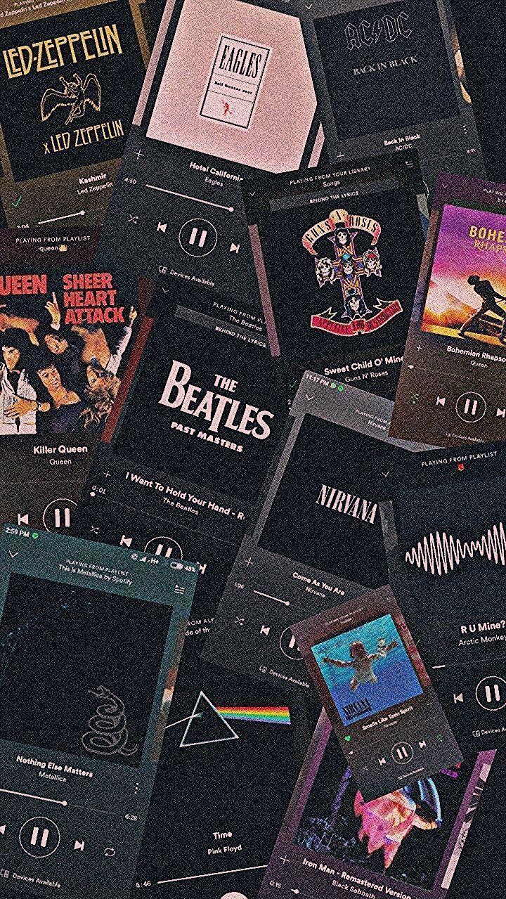 Led Zeppelin, Nirvana, ACDC, Arctic Monkeys, Guns Roses