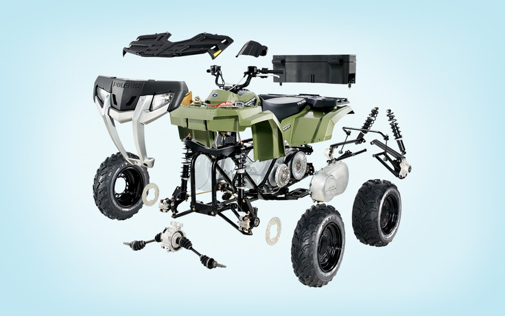 Polaris - exploded view. I love exploded views. More fun then they should be.