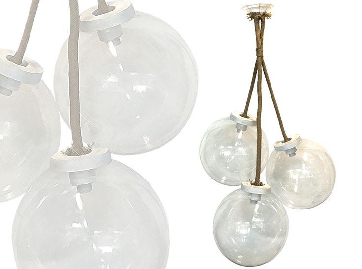 Φωτιστικό με διάφανες μπάλες  |Vintage Industrial Φωτιστικά | Navy φωτιστικό με σχοινιά Φωτιστικά Lampadari  Pendant Lighting Custom φωτιστικά