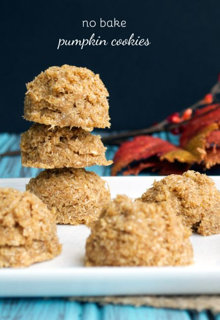 No Bake Pumpkin Cookies by Plaid & Paleo. #paleo #glutenfree #pumpkin