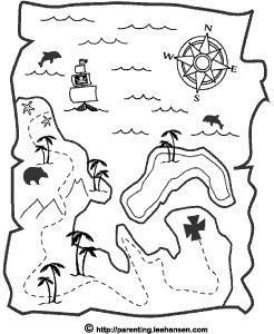 Halloween+Pirates+Pictures+To+Color | ... print a full size simple pirate map coloring page in Adobe PDF format