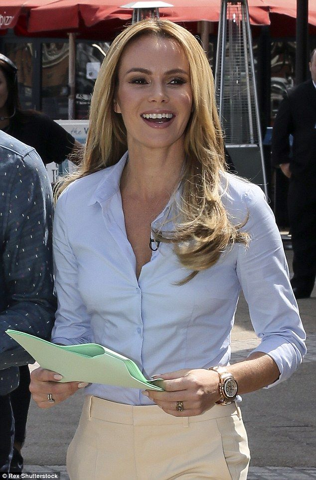 Happy face: The star looked lovely as she enjoyed the sun while spending her morning working on the live TV show
