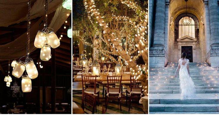Decora tu boda de noche con luz: ¡Crea una ambiente mágico!