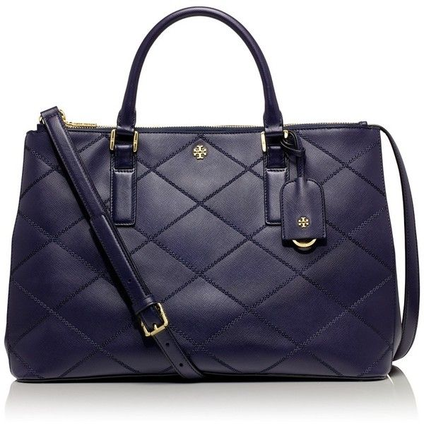 Tory Burch Robinson Stitched Double-Zip Tote found on Polyvore