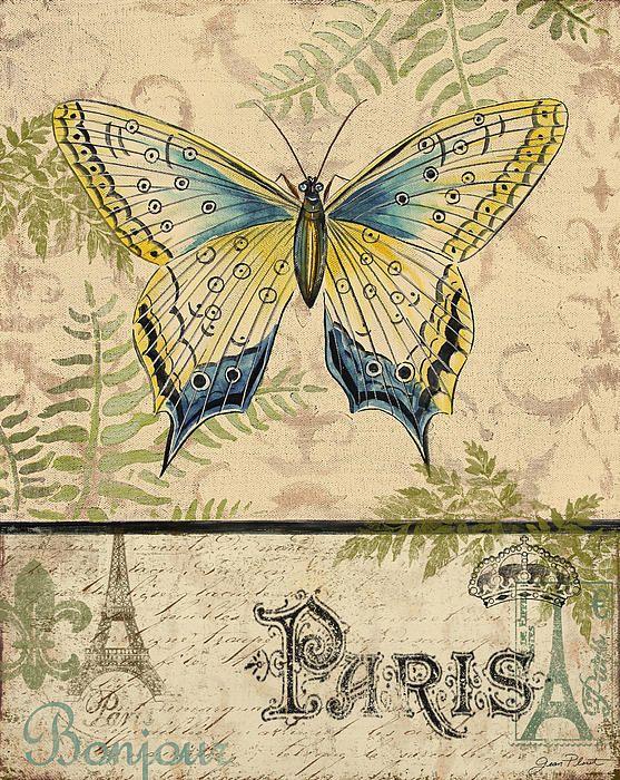 Paris butterfly - vintage