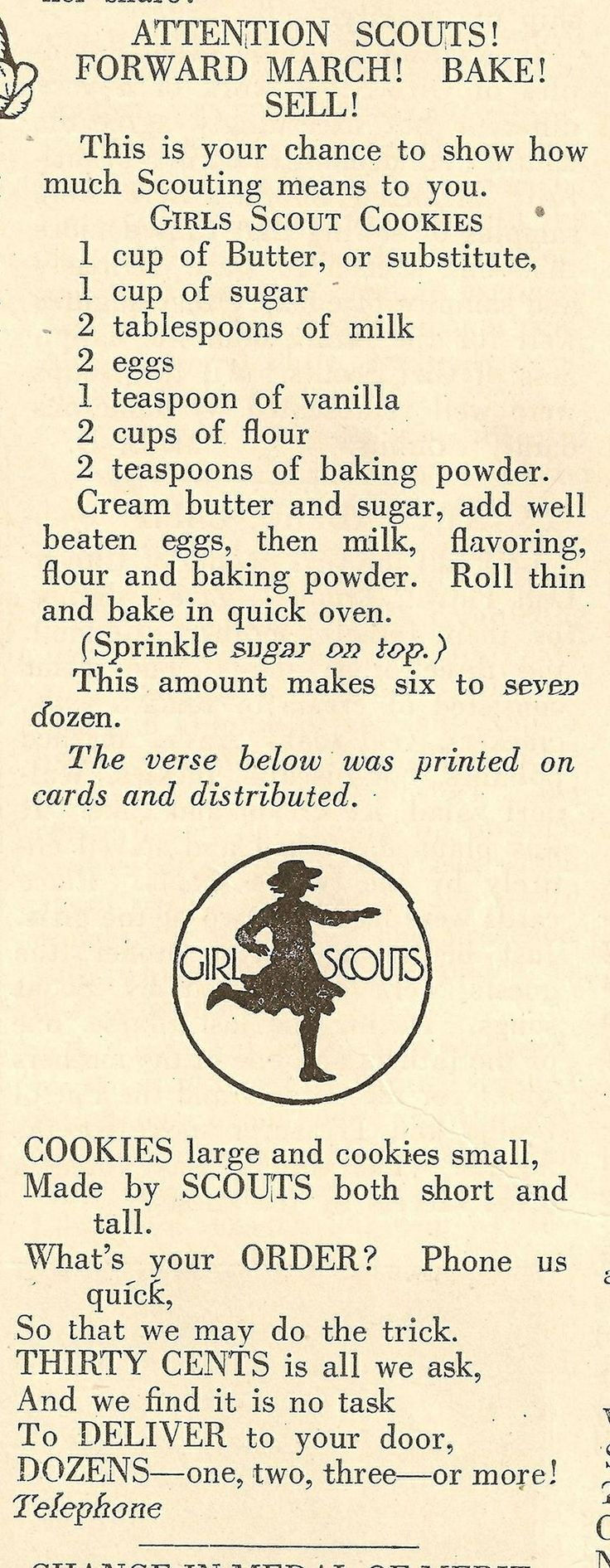 traditional girl scout cookie recipe girl scouts pinterest