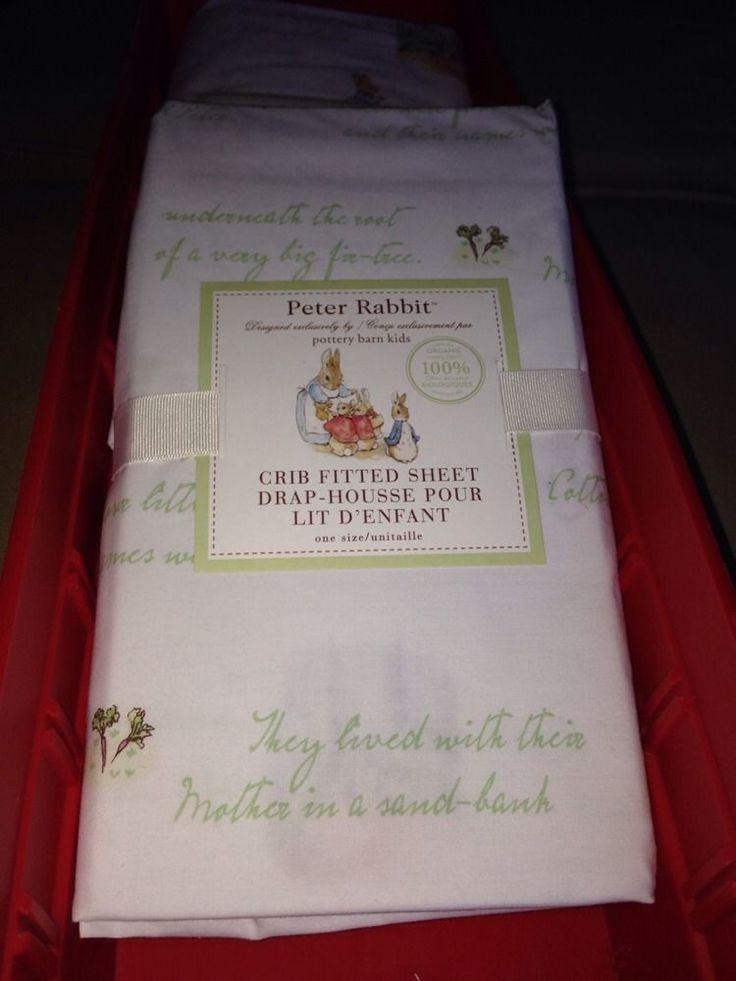 New NWT Pottery Barn Kids Peter Rabbit Fitted Crib Sheet Beatrix Potter Organic