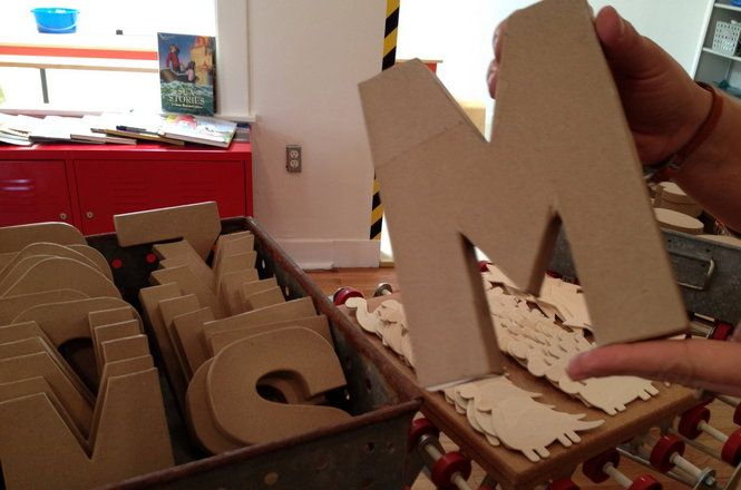 """""""Craft bases"""" at the Craft Factory in Southwest Portland include oversized letters of the alphabet"""