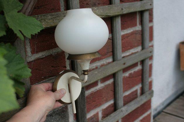 Vintage Wandlampen - 2 Wandlampen Jugendstil Lampen Messing - ein Designerstück von Landmum bei DaWanda