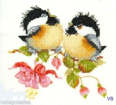 Heritage Valerie Pfeiffer Counted #crossstitch Fuchsia Chick Chat #chart #DIY…