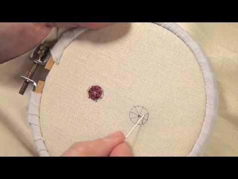 Les petites leçons de Marie Suarez - Le point araignée en broderie - Edisaxe - YouTube