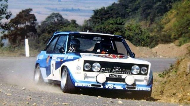 Walter Rohrl Rallye Codasur 1980 Fiat Abarth 131 Rallye Rennwagen