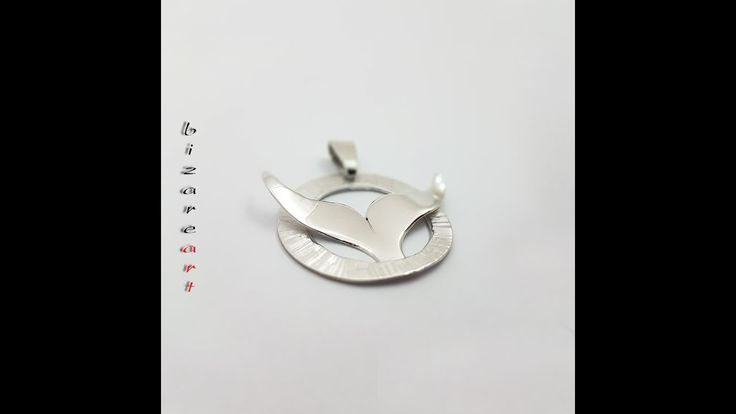 DIY: How to make a Whale tail  pendant with Silver all by hand
