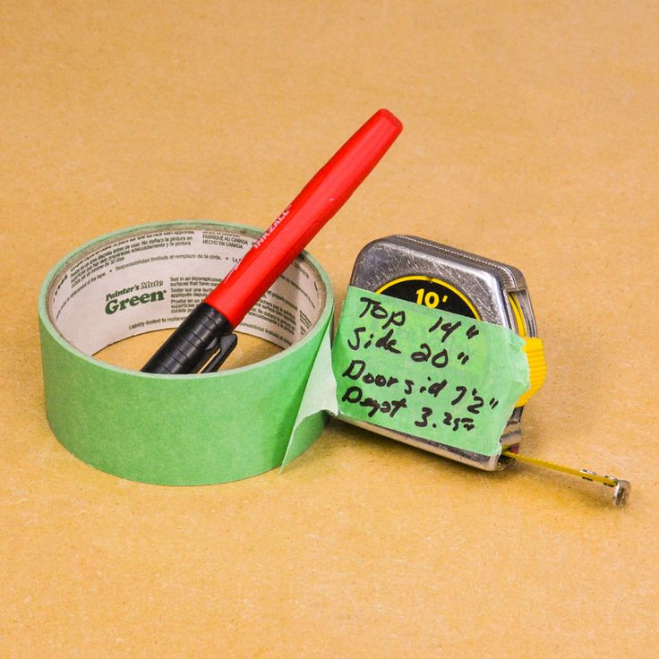 Another thing I found the wide tape very good for was using it as a marking note area, right on the side of my tape measure. I often have a felt-tipped pen in my pocket so using it to mark tape measure sitting on the tape was easy. What I soon discovered was that once I had the measurements, I did not have to run off immediately to make the cuts as shown on the tape, but rather I could just peel off the tape and stick it on to the project for reference later on. #DIY #woodworking