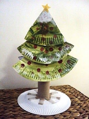 Paper Plate Christmas Tree #crafts