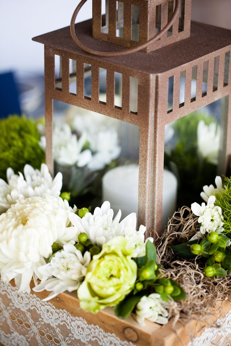 Out door wedding lantern centerpiece our pinterest