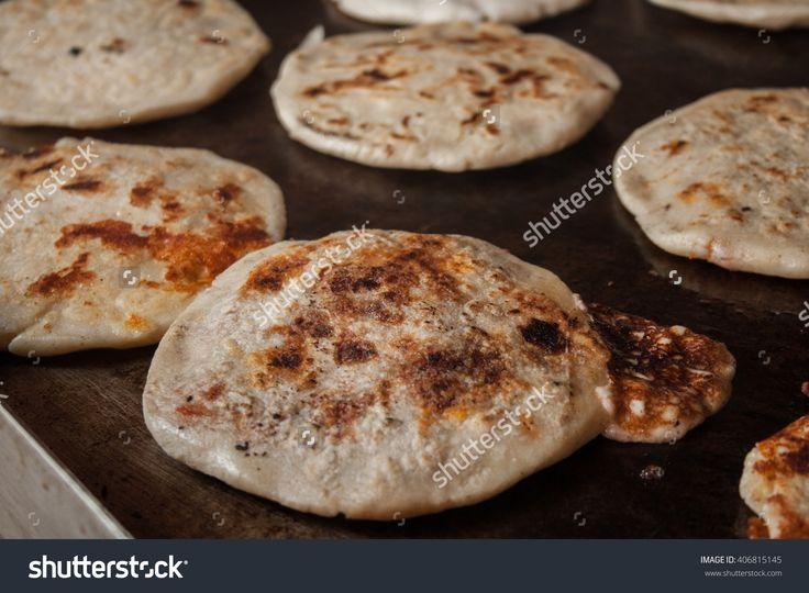 making typical delicious flour tortillas from El Salvador, pupuseria, pupusa