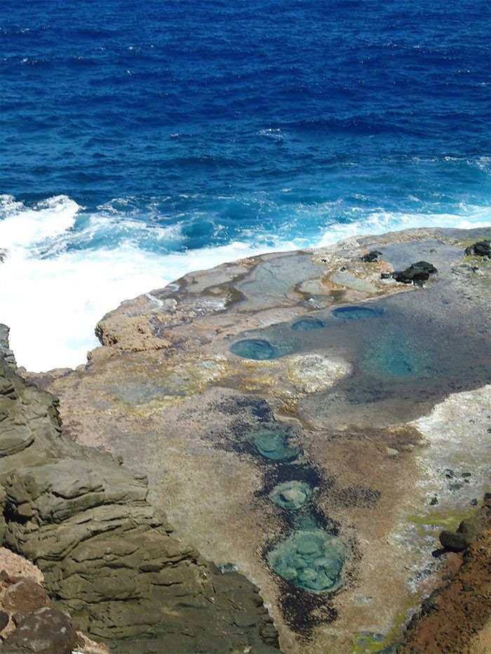 Natural sea pools at Escalier Tête de Chien, Dominica Island