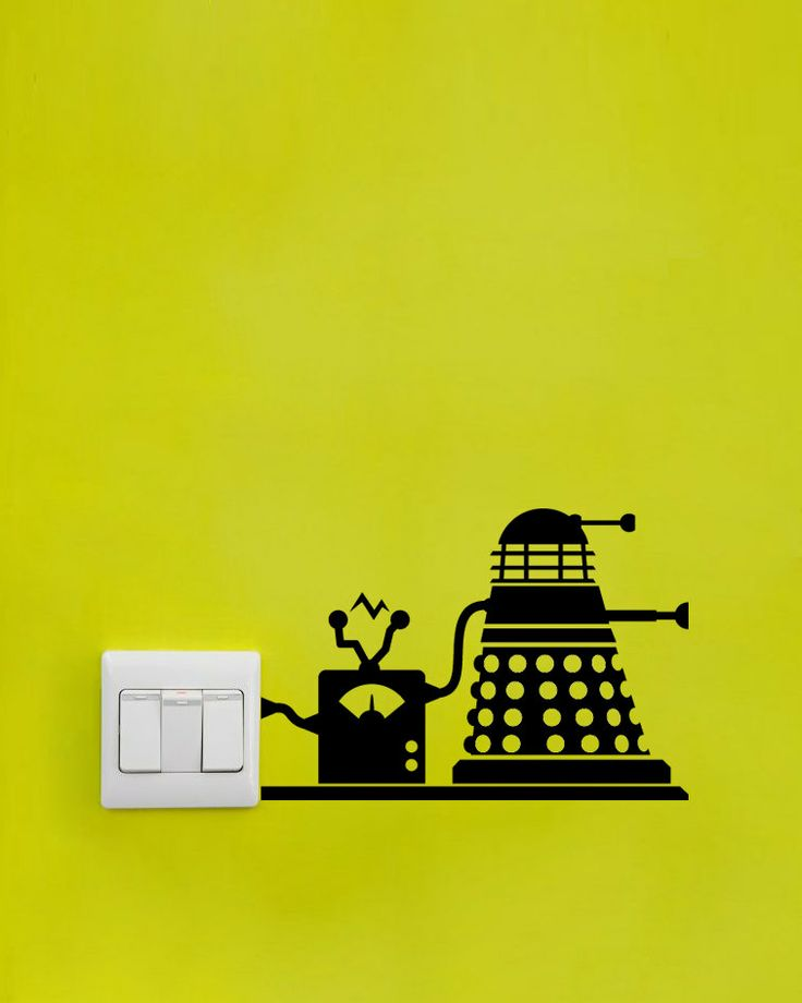 Dr Who / Doctor Who Recharging Dalek Vinyl Decal   Wall Part 69