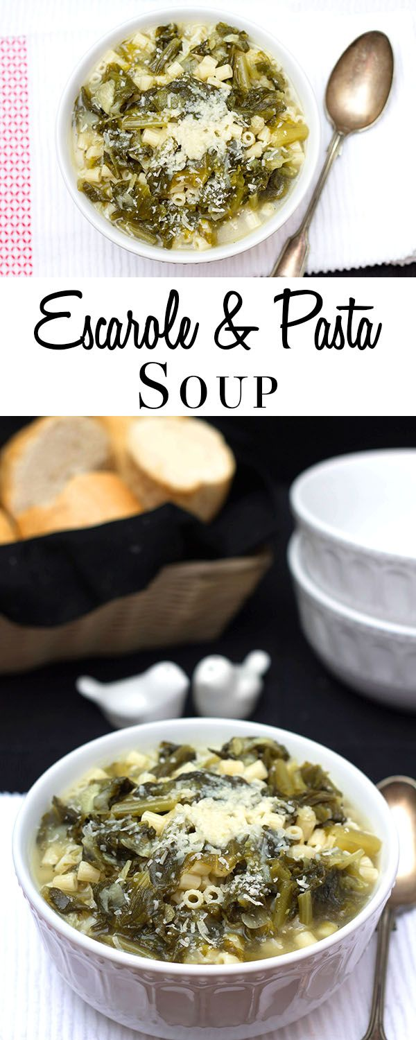 Escarole & Pasta Soup - Erren's Kitchen - This recipe is healthy, flavor-packed, satisfying soup.  It's an Italian classic that's perfect for a quick, warming, week night dinner.