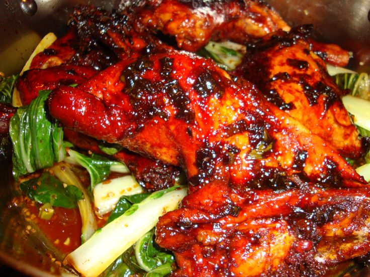 Whats For Dinner Tonight Korean Chicken With Bokchoy Https Www Facebook Com Photo Php Fbid