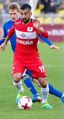 Aleksandr Samedov with FC Spartak Moscow in a game against FC Rostov. (2017)