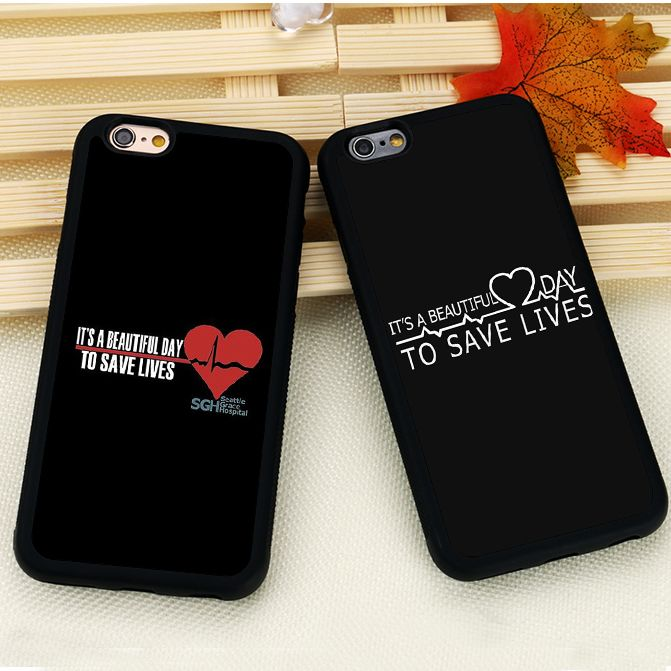 Cute Greys Anatomy Quotes Pattern Mobile Phone Cases Skin For iPhone 6 6S Plus 7 7 Plus SE 5S SE 5C 4 Soft Rubber Cover Shell