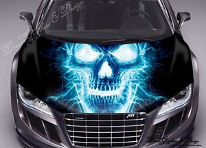 Best Skull Auto Images On Pinterest Skulls Skull And X - Custom vinyl decals for car hoodsfull color graphic vinyl sticker decal skull ghost fit car hood
