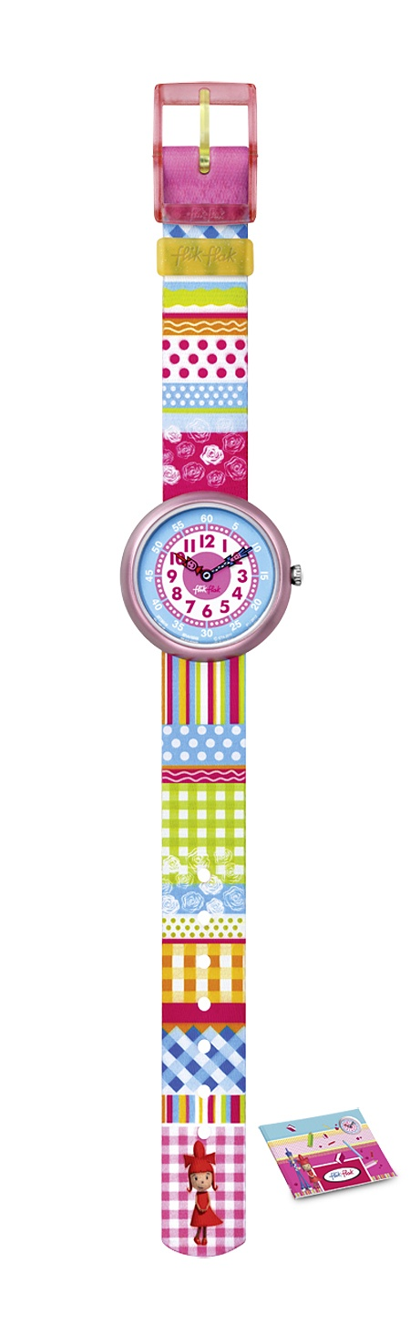 Swatch kids' division Flik Flak turns out cute watches that are specially designed to help children learn how to tell time. Comes in a variety of styles for all tastes! Water proof for 30m, washing machine washable, practical, looks great and educational!