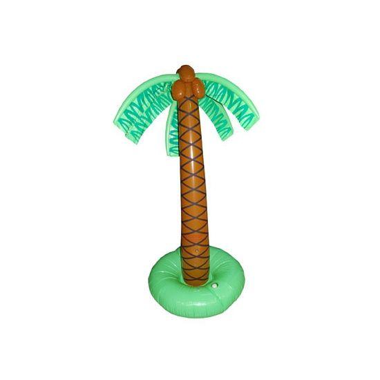Opblaasbare palmboom 179 cm. Grote opblaasbare palmboom decoratie van ongeveer 179 cm hoog.