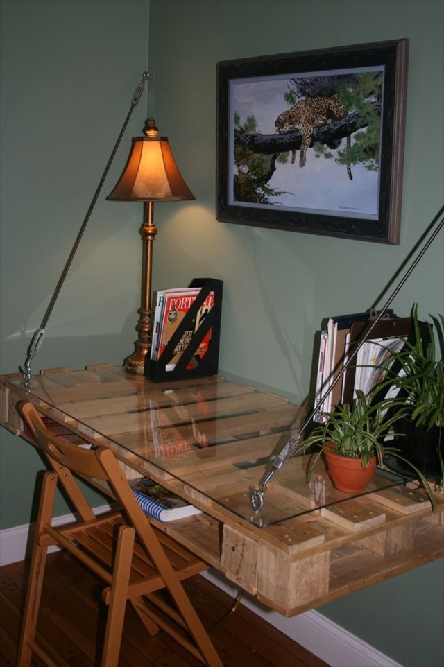 16 Ideas for a Useful Pallet Desk from Recycled Pallets | Pallet Furniture Plans